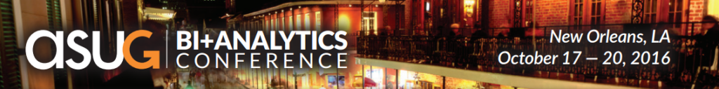 2016 ASUG BI + Analytics Conference