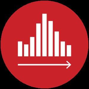 Dashboard Design Service Bar Icon Red