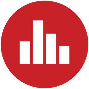 Dashboard Design Service Dark Red Bar Icon
