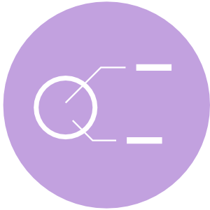 Dashboard Design Service Purple Icon