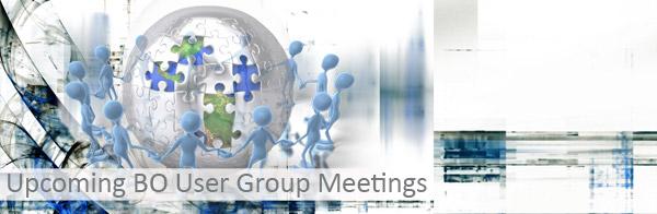 Upcoming BO User Groups Banner Image