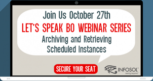 Let's Speak BO Webinar Archiving and Retrieving Scheduled Instances October 27 2020
