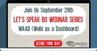 Let's Speak BO Webinar WAAD (Webi as a Dashboard) September 29 2020