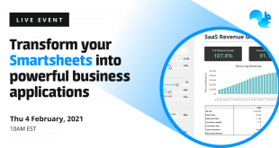 Transform your Smartsheets into powerful business applications